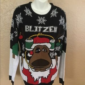 Blitzen Ugly Christmas Party Sweater M EUC